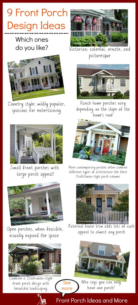 front porch designs collage - which ones do you like?