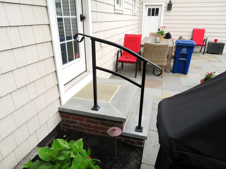 Instant Rail installed on front porch