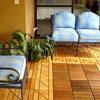 beautiful interlocking deck tiles on front porch