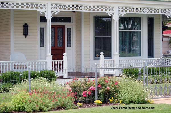 beautiful fretwork on porch in Fredericksburg TX