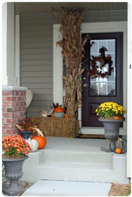 inviting autumn to our porch