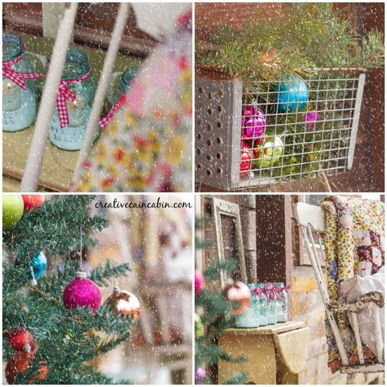 Christmas porch decorating - Creative Cain Cabin - Christmas porch collage