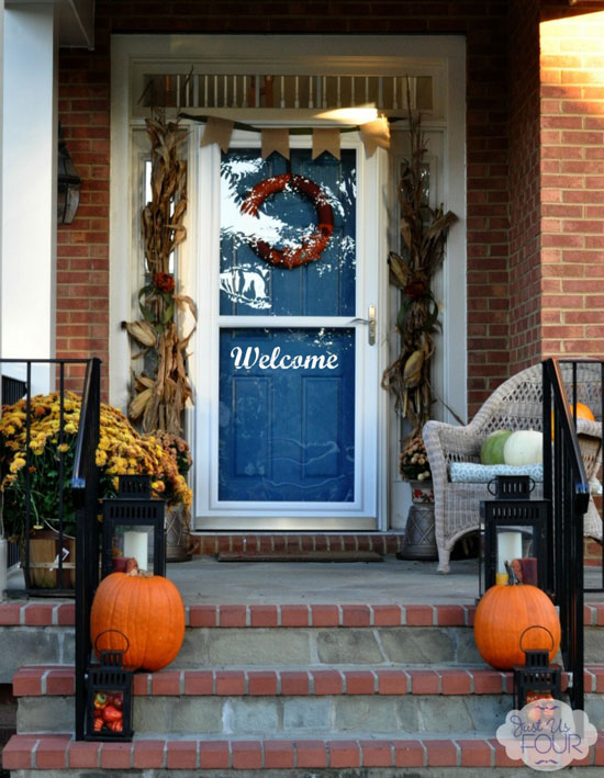 Just Us Four: Fall Front Porch