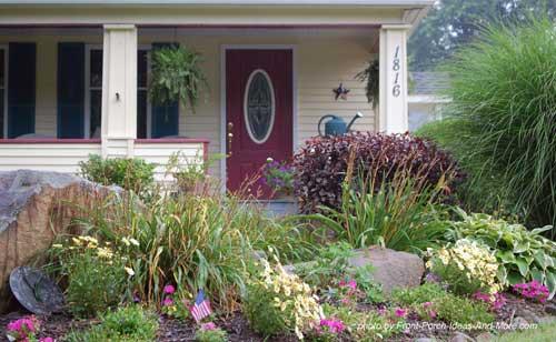 walkways, wildflowers, annuals and perennials