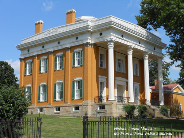 historic lanier mansion in madison indiana