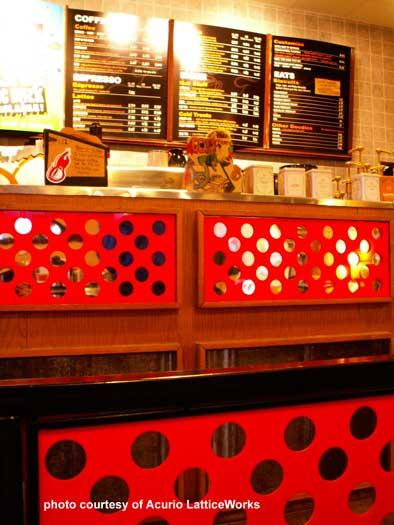 vinyl lattice restaurant dividers