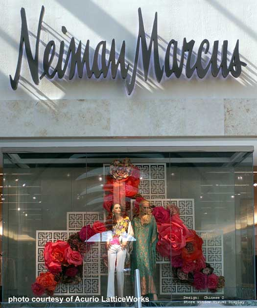 Neiman Marcus window lattice display