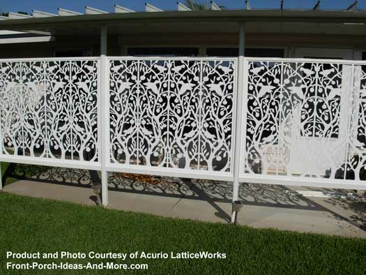 White lattice fence