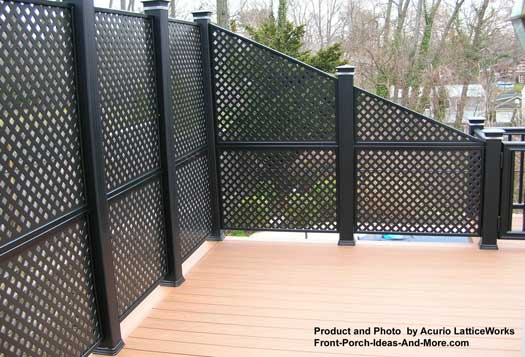 lattice fence made out of wood