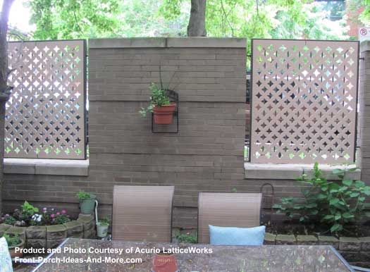lattice fence beside pool