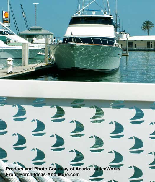 lattice fence with dolphn designs