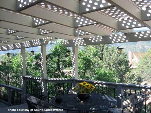 open vinyl lattice patio covers