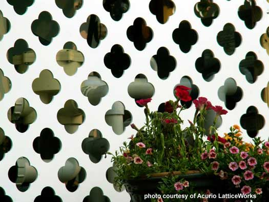custom designed lattice for concealment