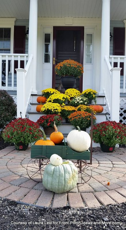 Mums and pumpkins make for a beautiful autumn porch - shared by one of our kind readers!