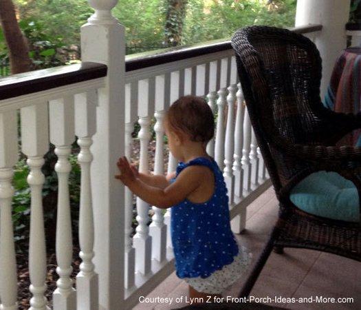 Porch railings keep Lynn's granddaughter safer