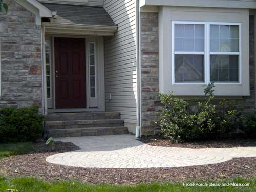 brick walkway leading to front porch