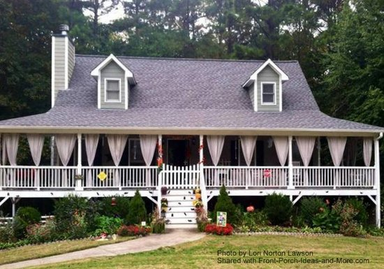 Lori's home has a beautiful wraparound porch