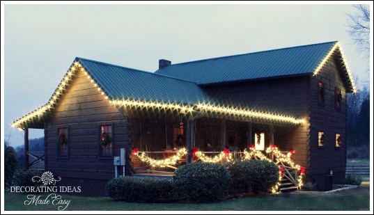Decorating Made Easy Christmas log cabin front porch