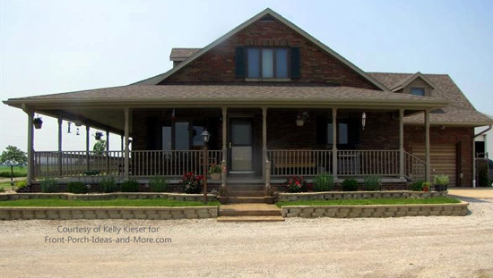 Kelly's home with her new porch - wonderful