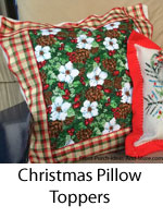 pillow toppers with christmas theme
