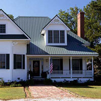 home with standing seam metal roof
