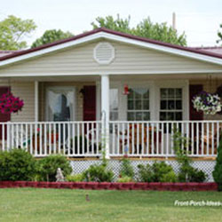 curb appealing mobile home front porch