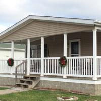mobile home gable porch