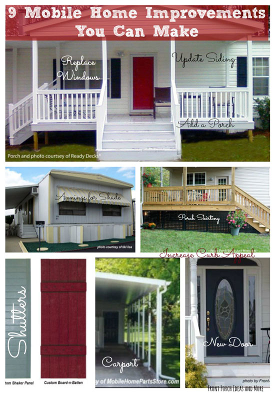 9 mobile home improvement ideas graphic