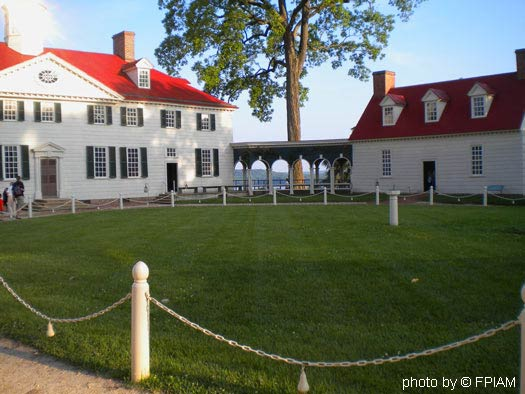 Mount Vernon VA George Washingon Home front view