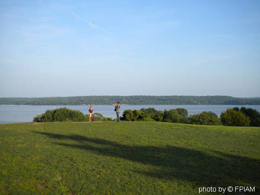Mount Vernon VA - Overlooking the Potomac River from the George Washingon home