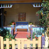 colorful and delightful front porch