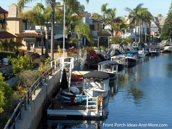 view of Naples California canal and homes