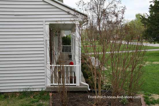 Narrow porch before new porch remodeling project