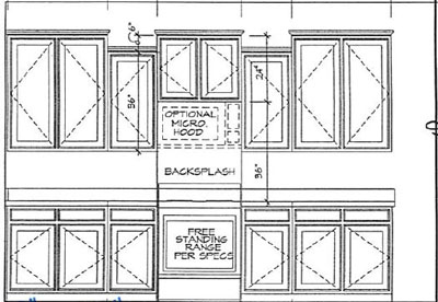 kitchen layout blueprint -outer wall