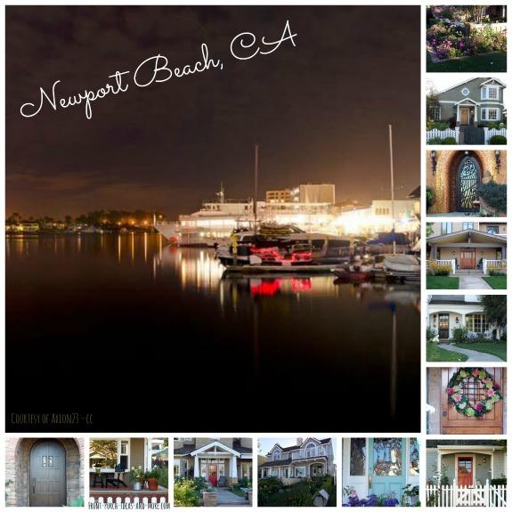 collage of Newport Beach porches