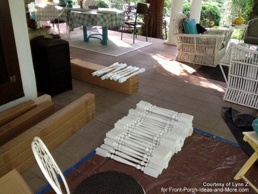 Ready to paint the balusters