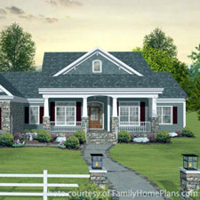 charming home plan with a front porch from Family Home Plans