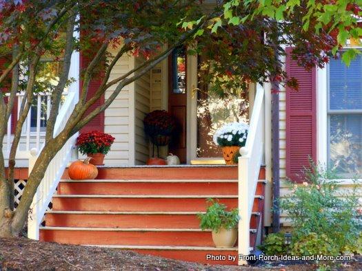 Orange porch steps for autumn