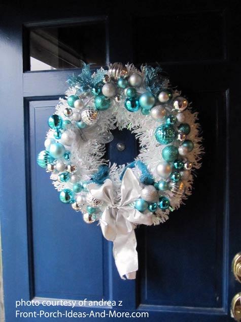 Beautiful front door holiday wreath