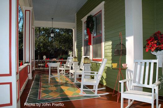 poinsettias and front door wreaths