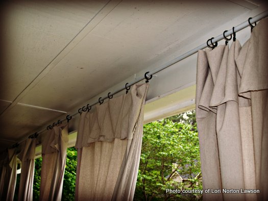 There was extra length on the curtains and that part became valances on Lori's curtains