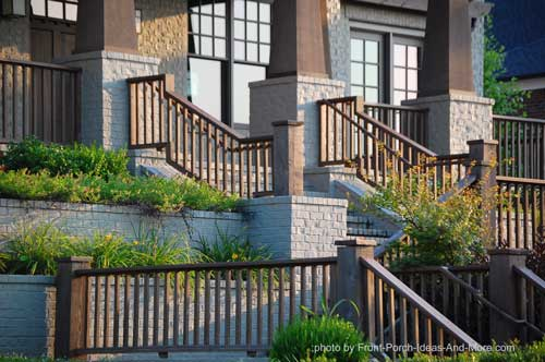 Porch hand rails deck hand rails outdoor hand rails - Exterior wood hand railings for stairs ...