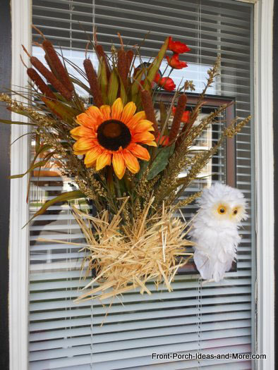 owl frame wreath for autumn