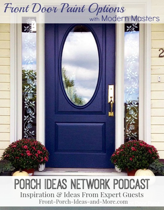front door painted blue with Modern Masters paint