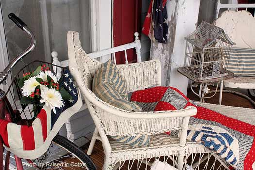 decorated porch for the 4th of july