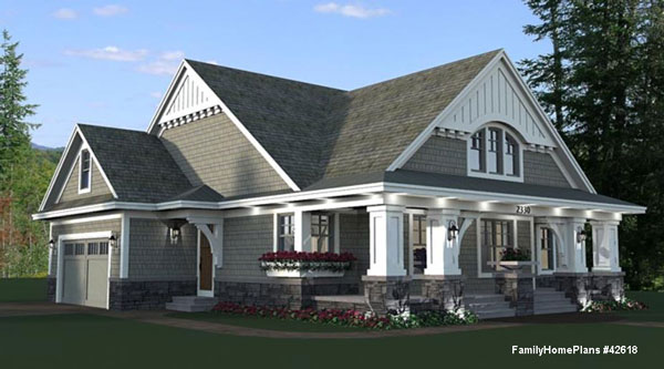 craftsman style house plan with nice front porch