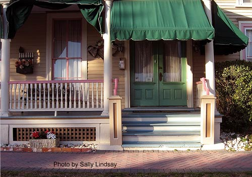 Beautiful Porch Awnings On Victorian Home
