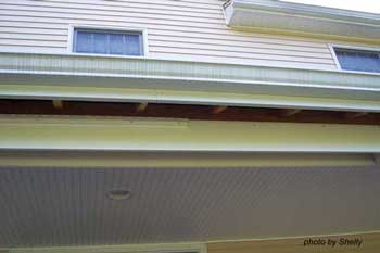 installation of porch ceiling