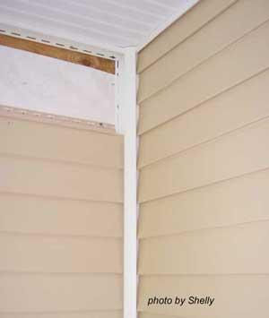 corner of porch ceiling