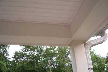 fasle beam on porch ceiling